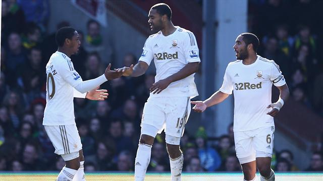 Premier League - Norwich and Swansea share spoils