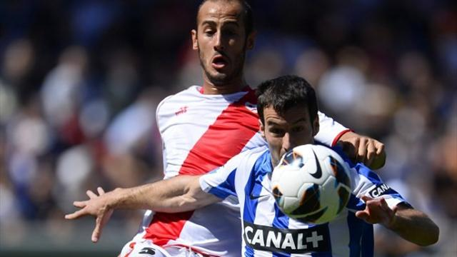 Liga - Agirretxe double keeps Sociedad on course for Europe
