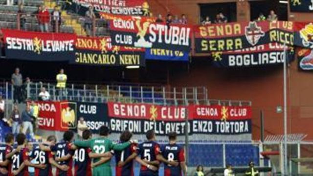 Italian Serie A - Genoa held by 10-man Sampdoria in derby