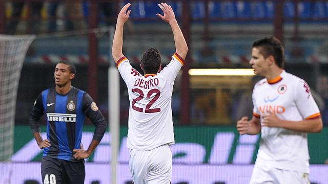 Serie A - Destro fires Roma into all-Roman Coppa final