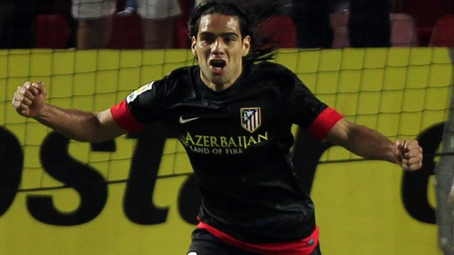 Liga - Falcao fires Atletico to win at Sevilla