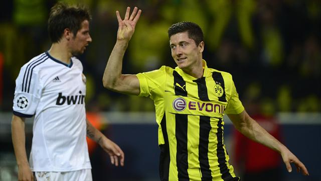 Champions League - Lewandowski smashes four as Dortmund rout Madrid