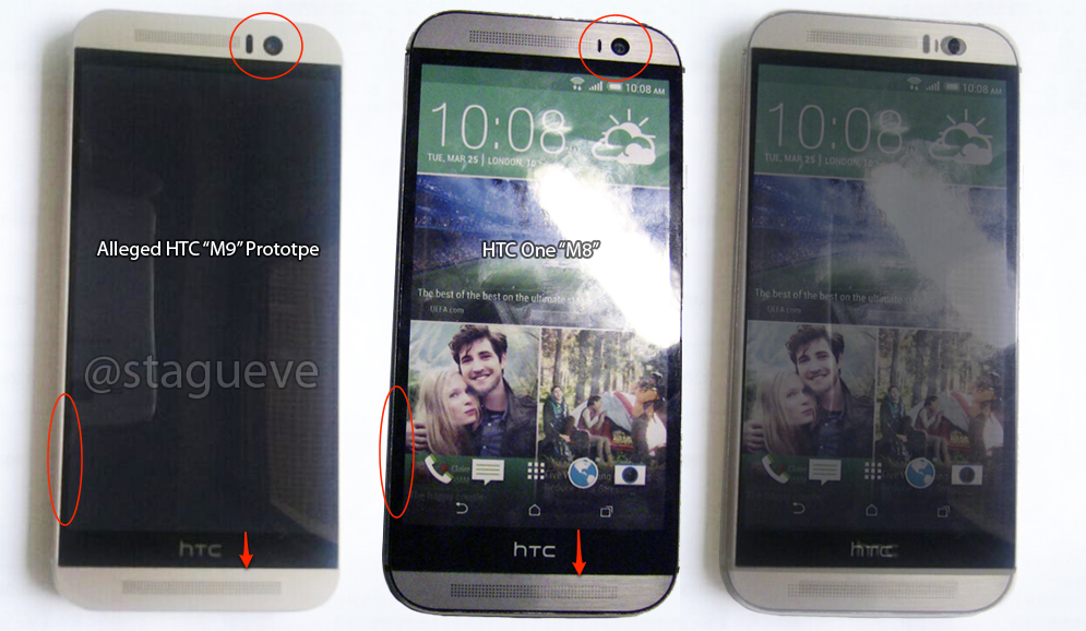 Leaked photo shows what the HTC One M9 looks like compared to the M8