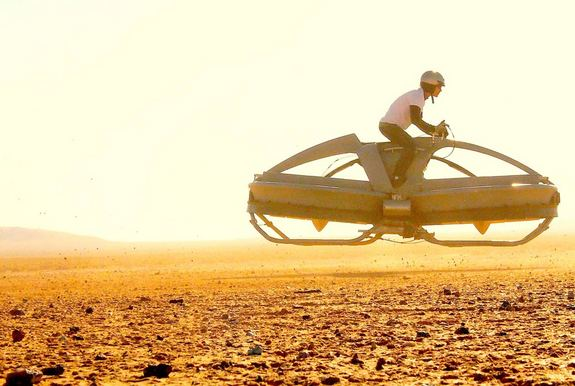 New Hover Vehicle Recalls 'Star Wars' Bike