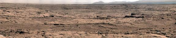This panorama is a mosaic of images taken by the Mast Camera (Mastcam) on NASA&#39;s Mars rover Curiosity while the rover was working at a site called &quot;Rocknest&quot; in October and November 2012.