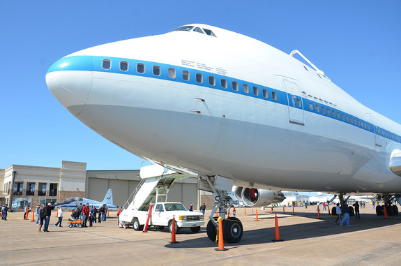 NASA's original Shuttle Carrier Aircraft, NASA 905, as seen on static display at Ellington Field during the Wings Over Houston Air Show on Oct. 27, 2012.