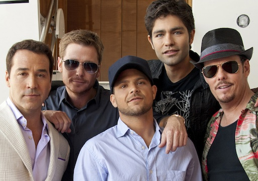 The cast of 'Entourage' (HBO)