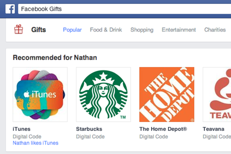 Facebook to close up shop on its digital gift card service