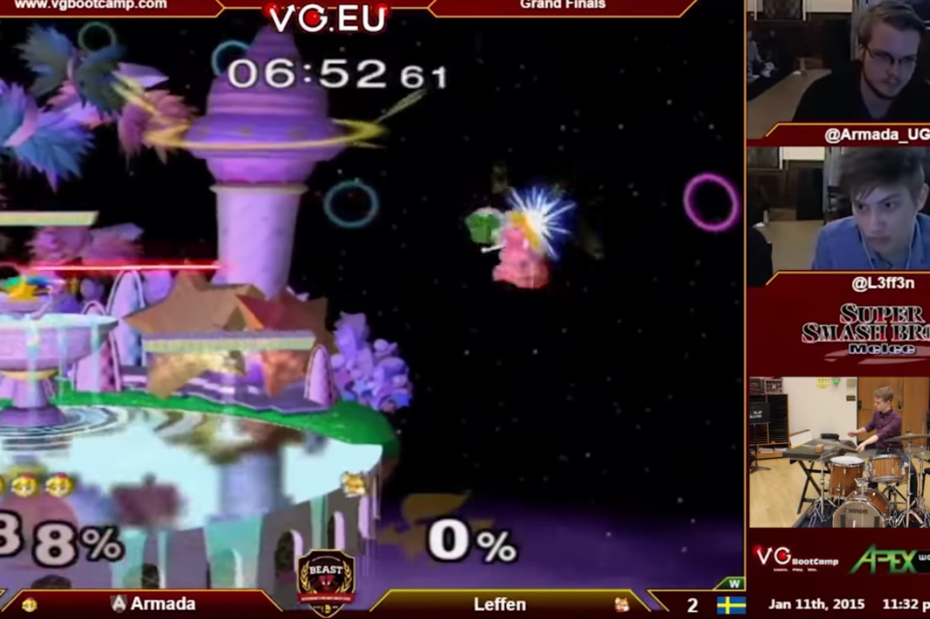 Jazz drumming to Super Smash Bros. is better than any commentary