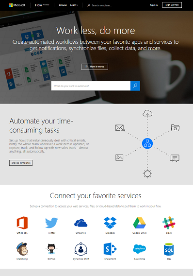 Microsoft has created its own IFTTT tool called Flow