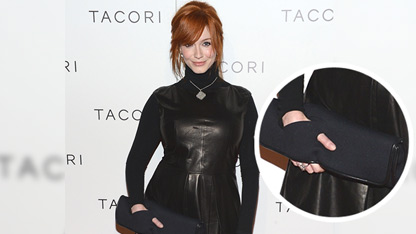 Trend Alert: Christina Hendricks' Trippy Clutch