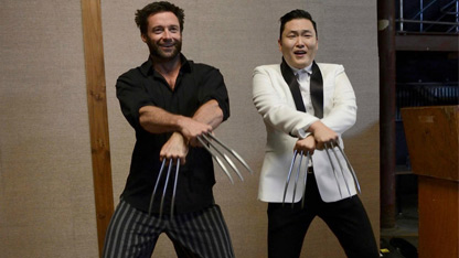 Hugh Jackman Debuts Gangnam Style Wolverine