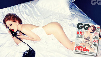 Jessica Chastain Goes Nude For GQ Shoot