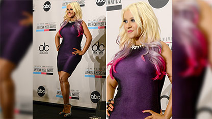 50 Shades of Xtina! Singer Sports 2-Toned Tan