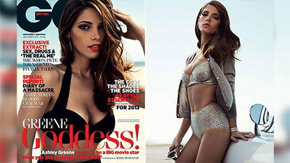 Ashley Greene Stuns In Vintage Bikinis