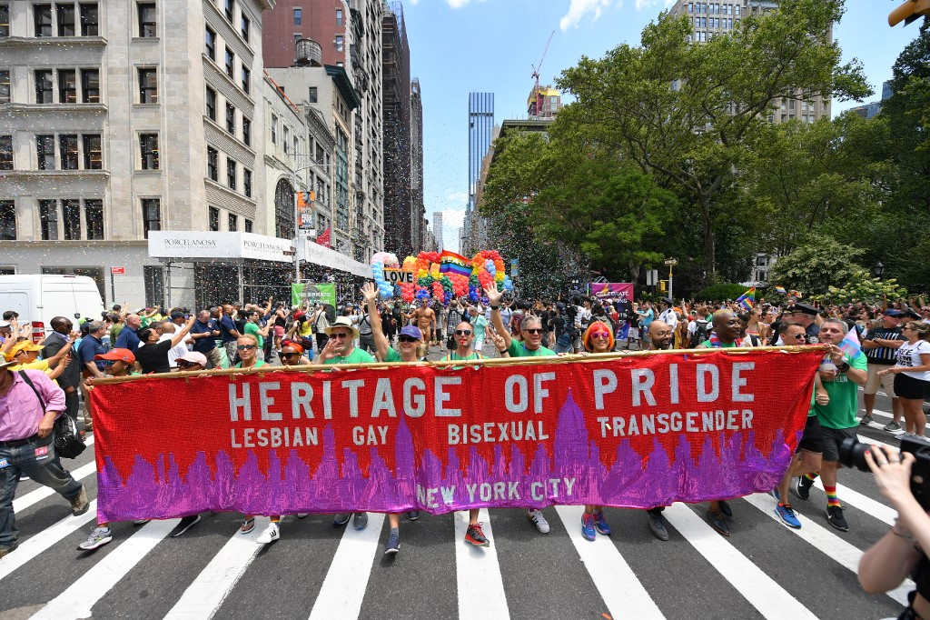 New York stages huge Gay Pride march, 50 years after Stonewall