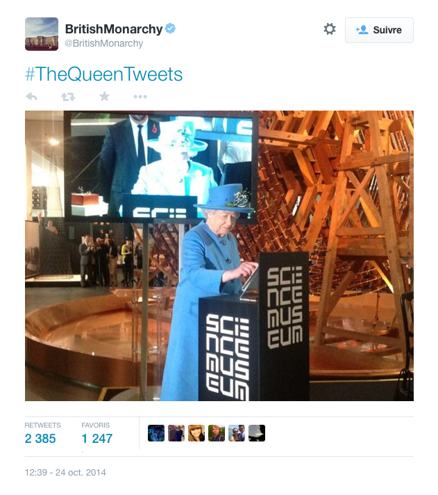 Britain's Queen Elizabeth sends first tweet