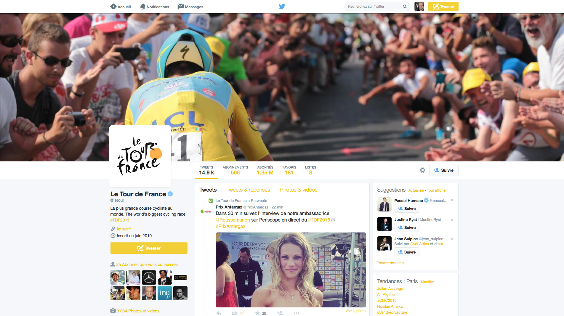 How to follow the 2015 Tour de France on Twitter