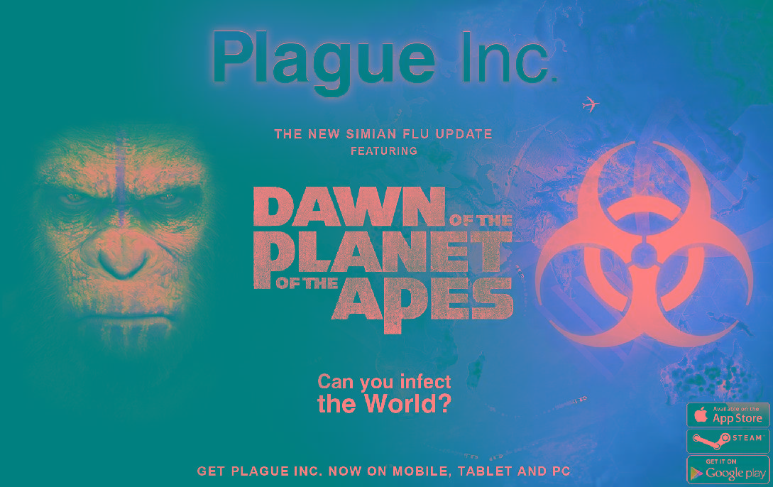 'Dawn of the Planet of the Apes' gets clever Plague Inc. gaming tie-in