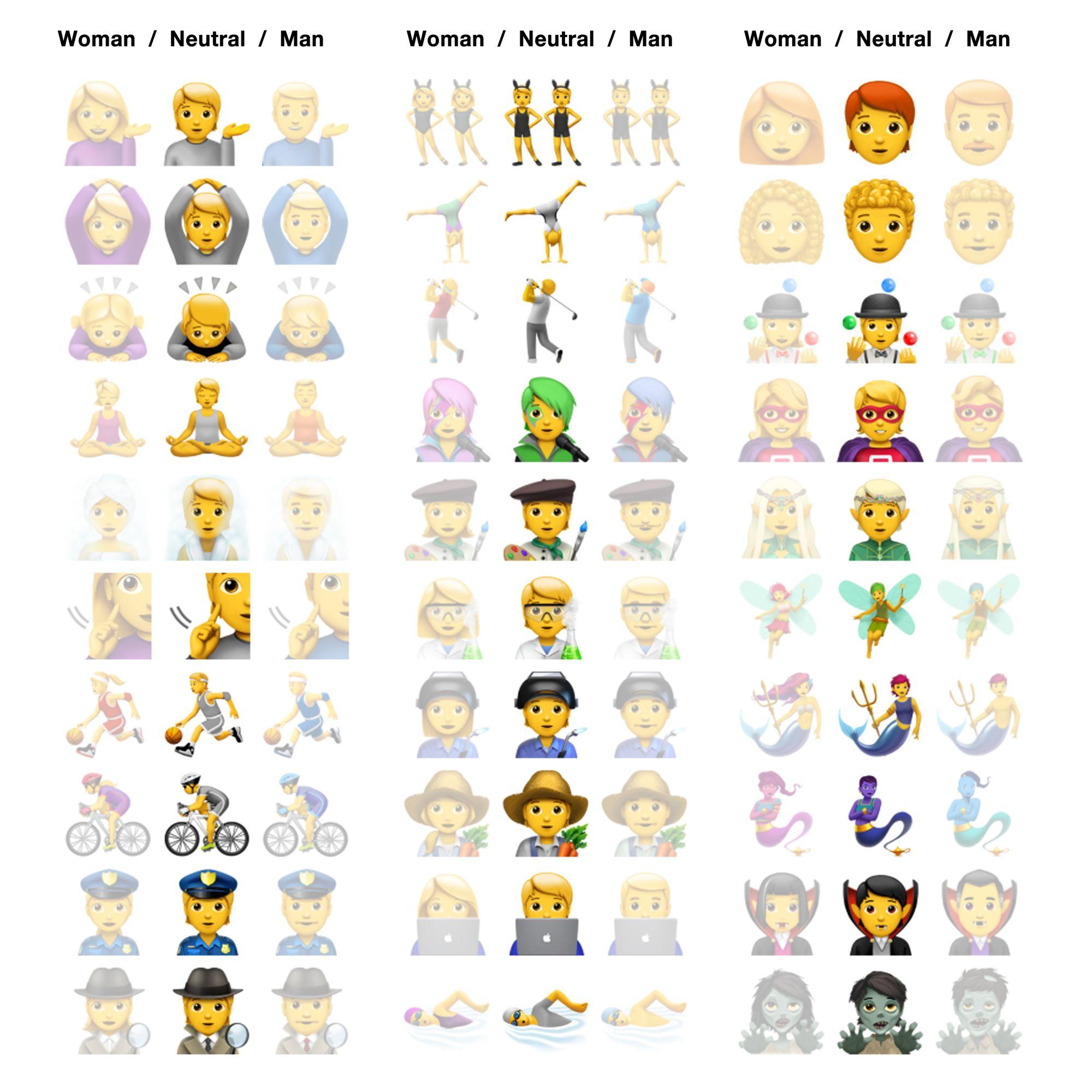 Apples iOS 13.2 brings gender-neutral emoji options