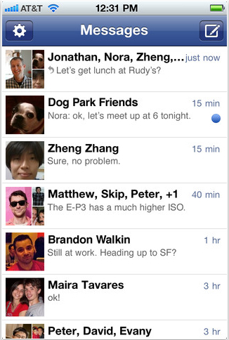 Facebook smartphone chats pushed to Messenger app