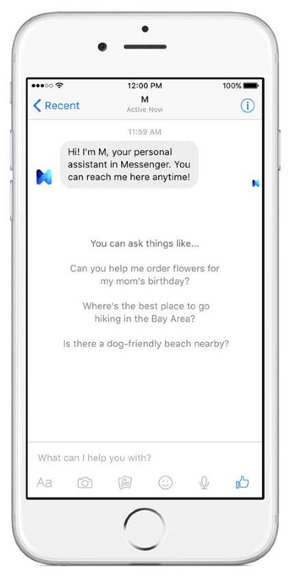 Facebook adding virtual assistant to Messenger app