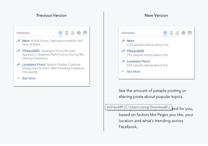 Facebook makes trending news feature more automated