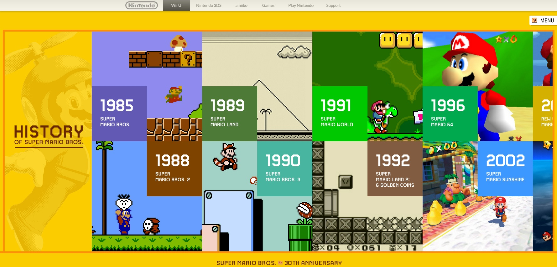 Nintendo celebrates the 30th anniversary of 'Super Mario Bros.' with a new game