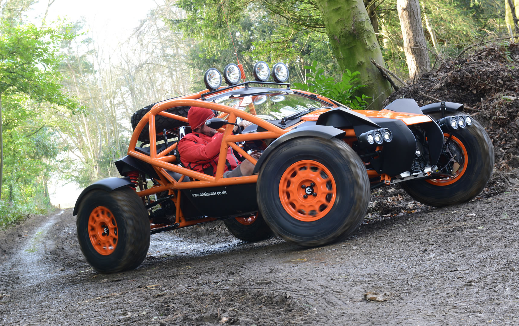 The Ariel Nomad has a Honda engine with 235hp.