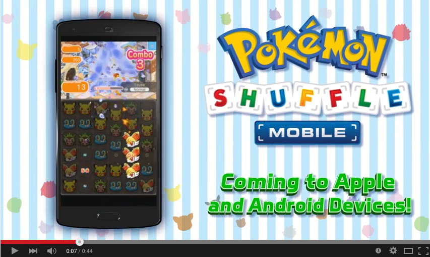 Pokémon Shuffle to be available for iOS and Android