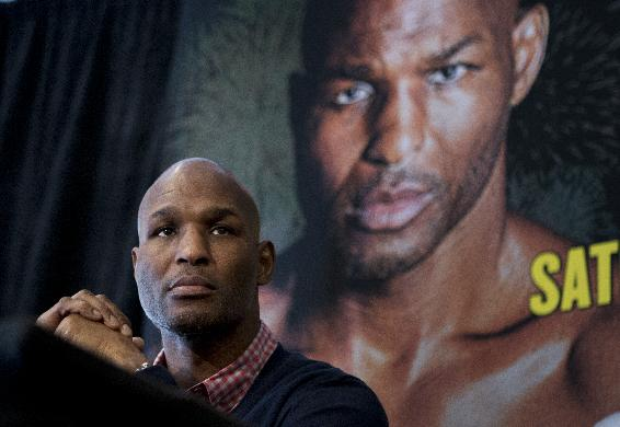 IBF Light Heavyweight World Champion Bernard Hopkins, attends a news conference in Washington, Tuesday, March 11, 2014, announcing his Light Heavyweight World Championship unification bout against WBA and IBA Light Heavyweight Champion Beibut Shumenov of Kazakhstan, to be held at the DC Armory in Washington on April 19, 2014