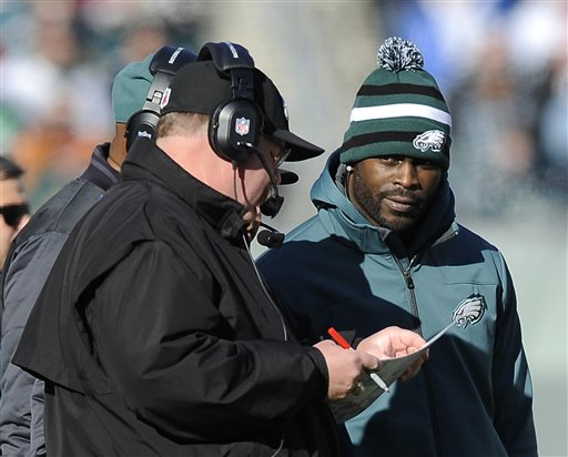 Michael Vick was relegated to spectator the final six games of 2012. (AP)