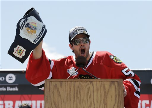 Chicago's Corey Crawford will keep moving up the list if he plays like he did in 2013. (AP)