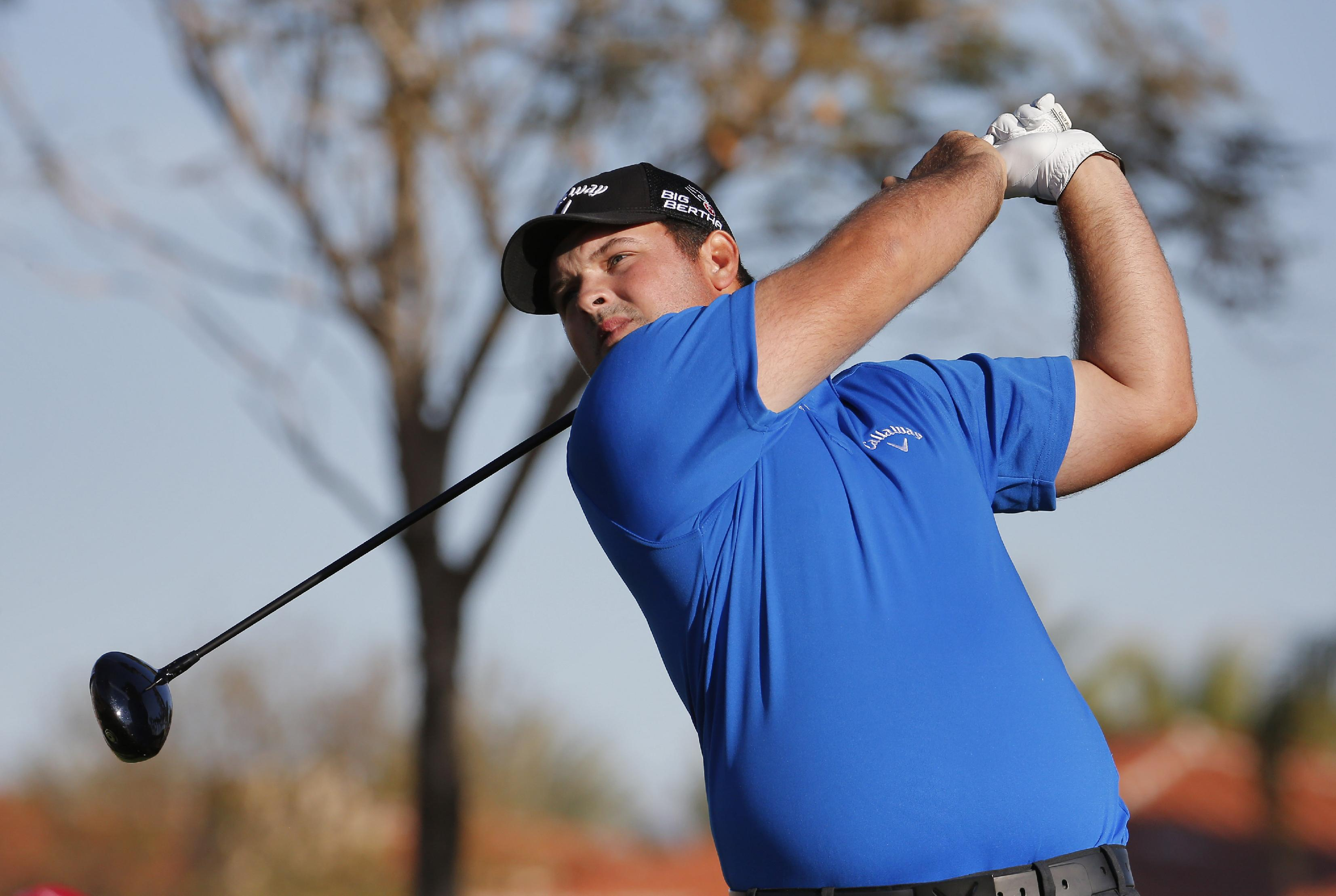 Patrick Reed hits from the 10th tee during the third round of the Humana Challenge PGA golf tournament on the Nicklaus Private course at PGA West, Saturday, Jan. 18, 2014, in La Quinta, Calif