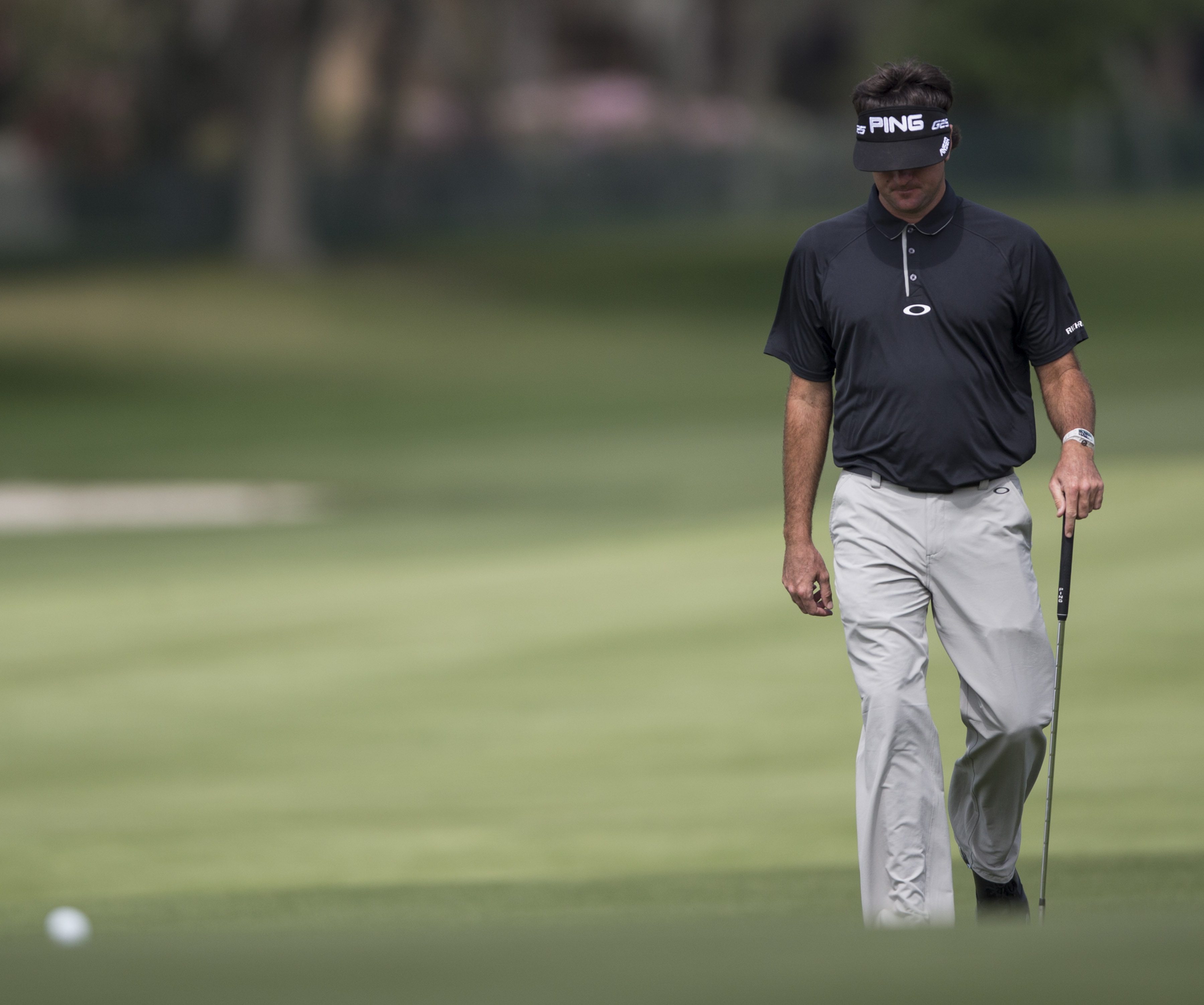 Bubba Watson walks up the fairway on the fifth hole during the first round of the Arnold Palmer Invitational golf tournament at Bay Hill Thursday March 20, 2014, in Orlando, Fla