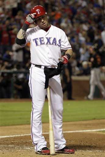 Josh Hamilton went 0-for-4 and ended his night with a three-pitch strikeout. (AP)