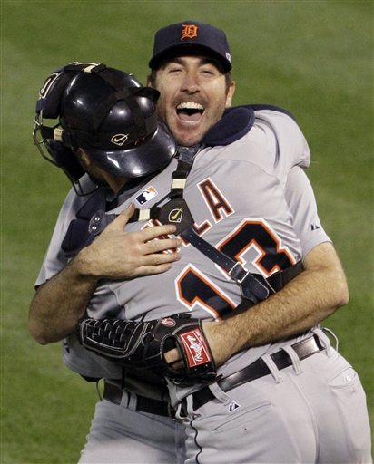 In two ALDS starts this season, Justin Verlander struck out 22 Athletics. (AP)