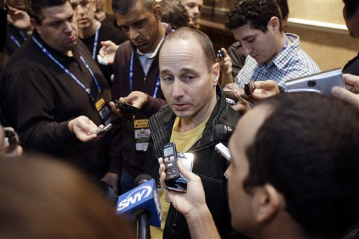 GM Brian Cashman and the Yankees didn't make much noise in the free-agent market at the winter meetings. (AP)