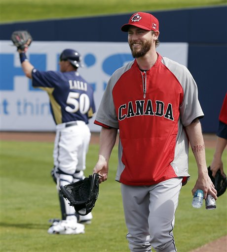 John Axford anchors Canada bullpen. (The Associated Press)