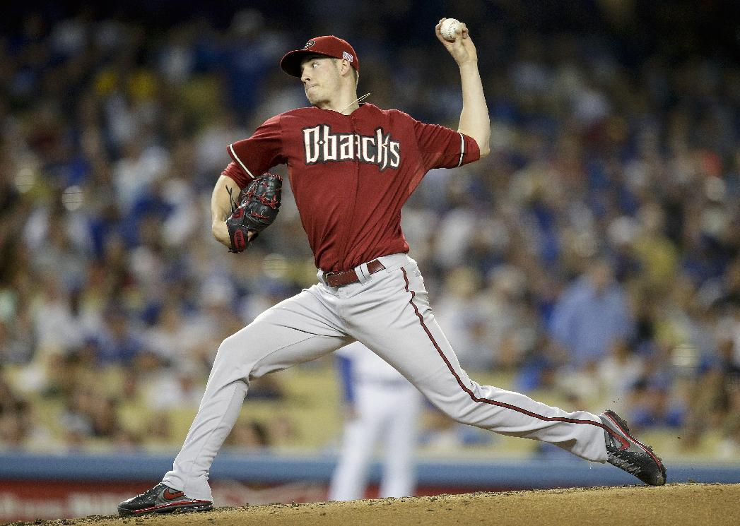 Arizona Diamondbacks starting pitcher Patrick Corbin throws against the Los Angeles Dodgers during the second inning of a baseball game on Wednesday, Sept. 11, 2013, in Los Angeles