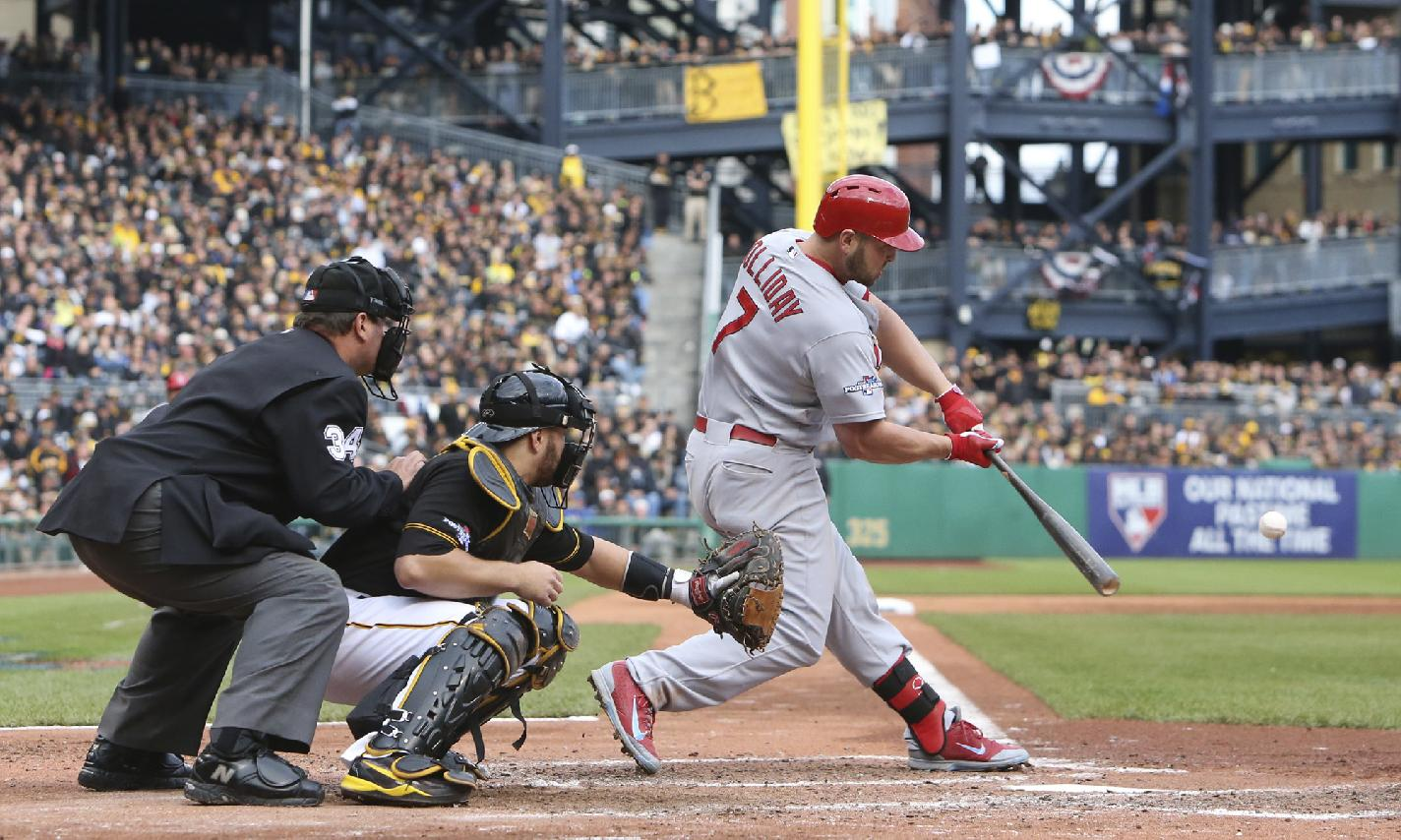 Matt Holliday's two-run homer in the sixth was all the offense St. Louis needed. (AP)