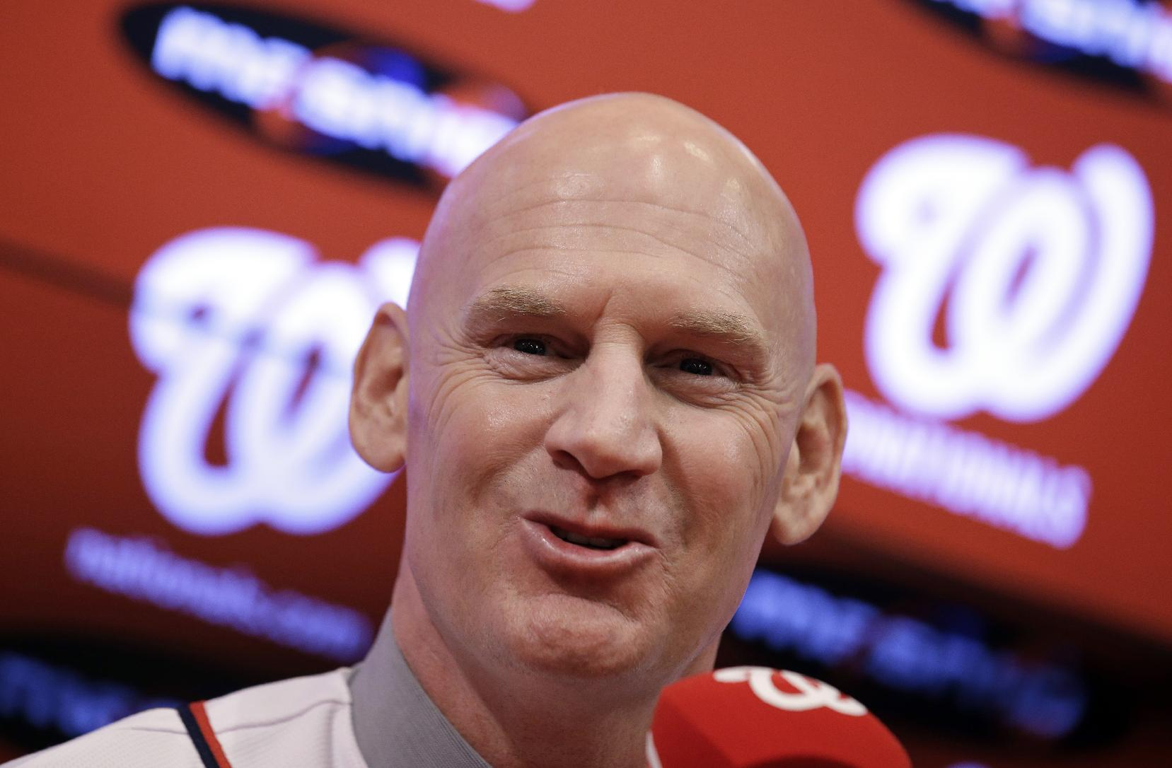 Matt Williams addresses the media after he is introduced as the new manager of the Washington Nationals baseball team during a news conference at Nationals Park, Friday, Nov. 1, 2013, in Washington