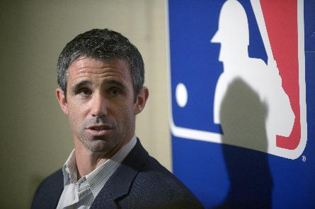 Detroit Tigers manager Brad Ausmus talks to reporters during a media availability at baseball's winter meetings in Lake Buena Vista, Fla., Wednesday, Dec. 11, 2013