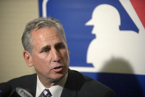 San Diego Padres manager Bud Black talks to reporters during a media availability at baseball's winter meetings in Lake Buena Vista, Fla., Wednesday, Dec. 11, 2013