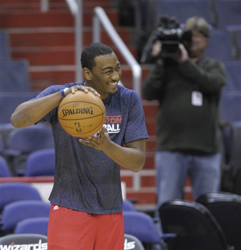 John Wall is increasing his workout workload in preparation for his return. (AP)