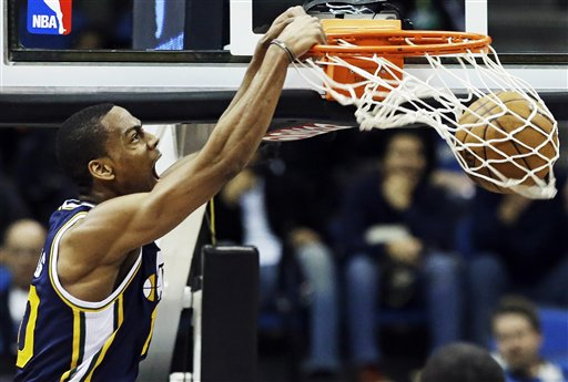 CORRECTION Jazz Timberwolves Basketball