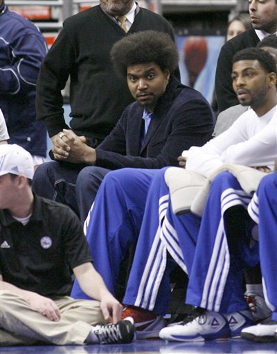 Andrew Bynum hasn't played a game since being traded to the Sixers. (AP)