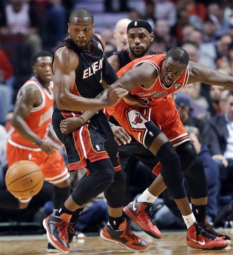 The Heat hadn't lost since Feb. 1 before falling to the Bulls. (AP)