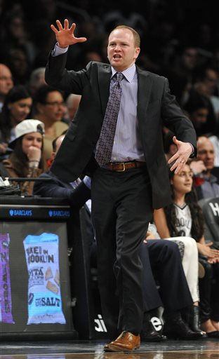 Lawrence Frank guided the Pistons to a 29-53 record this season. (AP)