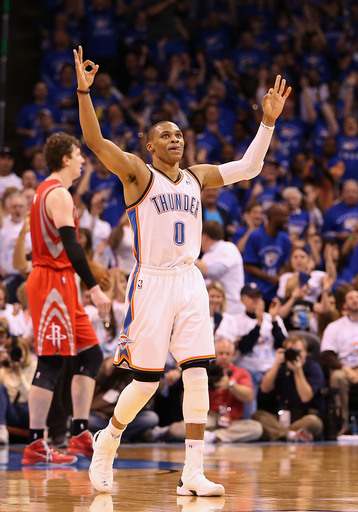 Russell Westbrook has previously never missed a game in his five-year NBA career. (AP)